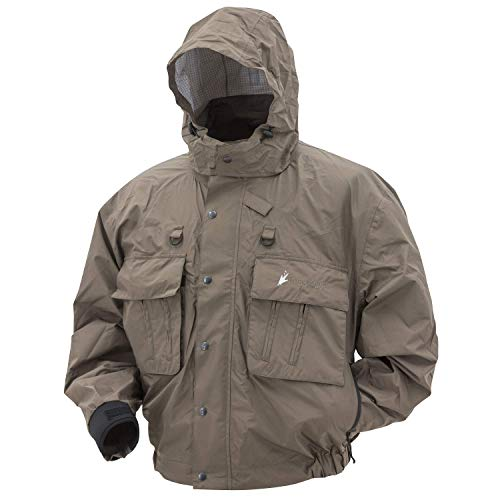 Frogg Toggs Java Hellbender Fly & Wading Jacket, Stone, Size X-Large