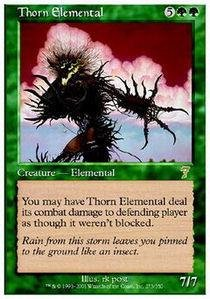 (Magic: the Gathering - Thorn Elemental - Seventh Edition )