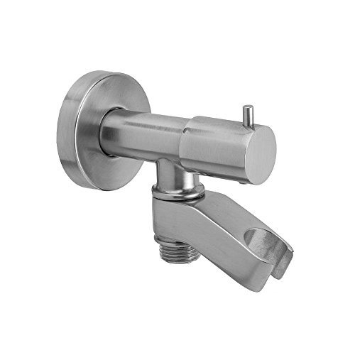 Jaclo 6466-PCH Water Supply Elbow with On/Off Valve and Holder, Polished Chrome (Jaclo Water Elbow Supply)