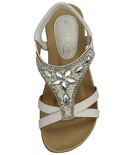 Cheville walker Sky Blanc Femme Bride df q6Ax4UCn