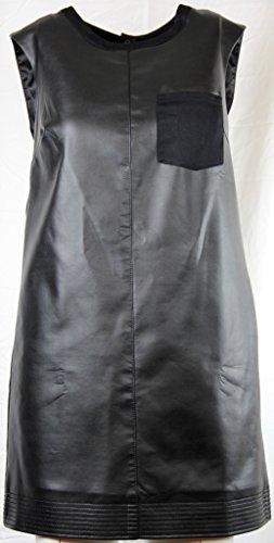 Rachel Rachel Roy Womens Faux Leather Lined Party Dress Black S (Rachel Roy Clothing compare prices)