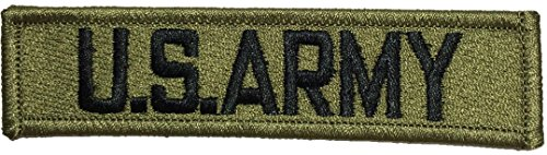[U.S. Army US Military Tactical Name Tab Applique Embroidered Sew Iron on Emblem Badge Costume Patch - Green By Ranger Return] (Russian Costume Pattern)