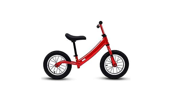 YUMEIGE Bicicletas sin Pedales Bicicletas sin Pedales Rueda neumática, Marco de Aluminio, Bicicleta de Equilibrio para niños 2-6 años, Carga 30 kg Azul Rosa Rojo Plata (Color : Red): Amazon.es: Jardín