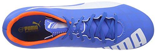 Puma evoSPEED 5.4 FG Herren Fußballschuhe Blau (electric blue lemonade-white-orange clown fish 03)
