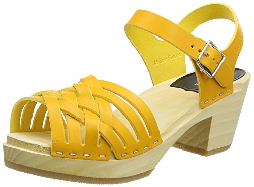 Swedish Hasbeens Braided High - Sandalias Mujer Yellow (Warm Yellow)