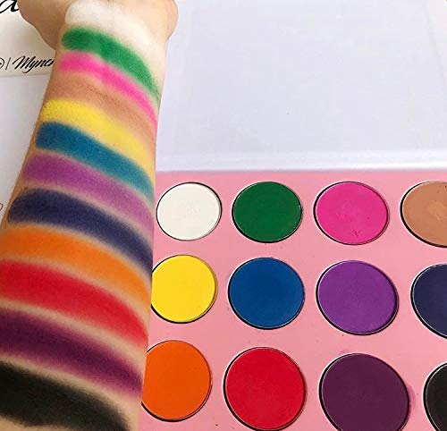 Matte Eyeshadow Palette Highly Pigmented 12 Rainbow Colors No Shimmer | Mynena