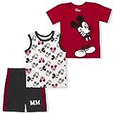 Disney Boy's 3-Pack Mickey Mouse MM Tee, Sleeveless