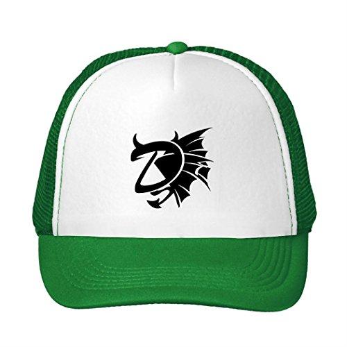 Outlet Demon Letter D With Devil Horns Men's Hat by SOdasnie (Skully And Green Demon)