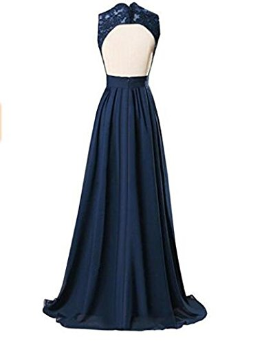 Chiffon Bridesmaid Light Party Hollow Gown Prom Back Pink Evening V Long Neck Dresses Botong AWgHq6TFE
