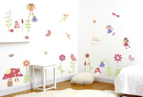 Attractive Enchanted Garden Fairies Girlu0027s Nursery And Bedroom Wall Sticker Decor Kit:  Amazon.co.uk: Baby Part 16