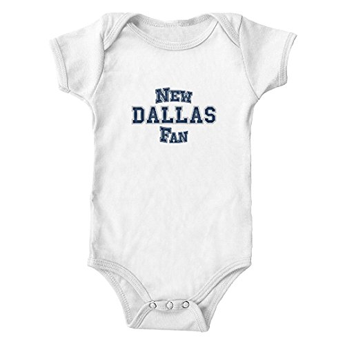 Trunk Candy New Dallas Fan Infant One-Piece Bodysuit (White, 6M)