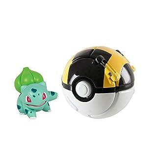 Throw 'N' Pop Poké Ball, Pikachu Figure and Poke Ball Action Figure Toy (Bulbasaur and Ultra Ball)