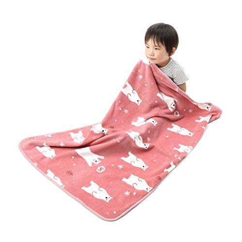 Alcea Rosea Coral Fleece,Animal theme, Gift style, Cartoon,Newborn,Baby Blanket 40''x 29'' (Pink Polar Bear) (Baby Polar Fleece Blanket)