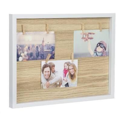 Panel Portafotos Con Pinzas Madera d'casa