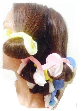 ダイソーのスポンジカーラーでカンタン綺麗な巻き髪が完成!