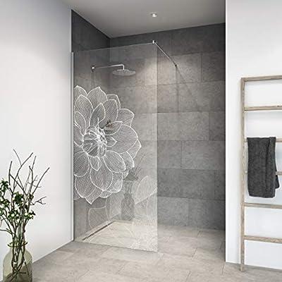 Mampara de ducha de vidrio templado con decoración LaserVision_004 ...