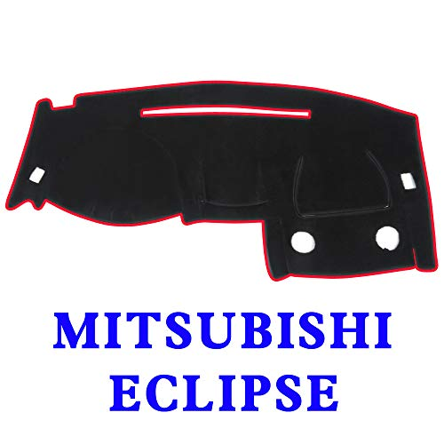 JIAKANUO Auto Car Dashboard Carpet Dash Board Cover Mat Fit Mitsubishi Eclipse 2000-2005 (BLK-RED MR-010)