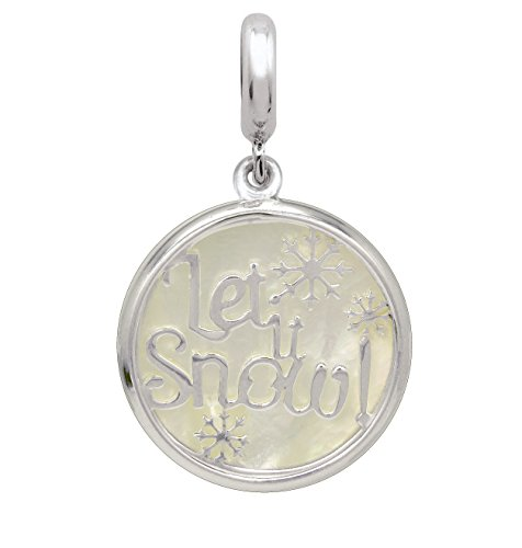 Persona 925 Sterling Silver MOP Let it Snow Bead Dangle Charm H15314PP