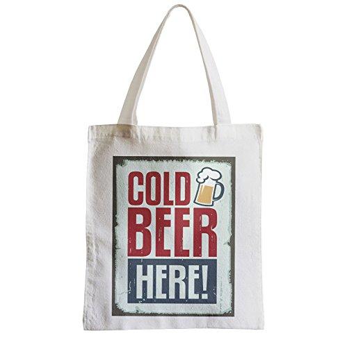 coolen Große Tasche Sack Einkaufsbummel Strand Schüler Bier kaltes Bier hier