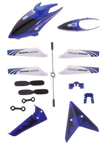 Full Replacement Parts Set for Syma S107 Rc Helicopter, Main Blades, Tail Decorations, Tail Props, Balance Bar, -Blue Set-