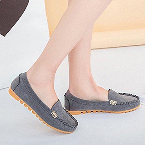Femme Bottes Ballet Et Chaussures Ballerines Bateau Ete Casual Boots on Slip Dames Flats Boat Bottines Femmes Comfy Gris Weant 5fpwq