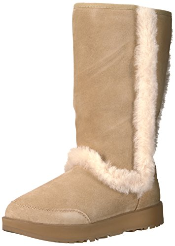 UGG Women's Sundance Waterproof Winter Boot, Sand, 5.5 M US