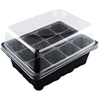 ouying1418 Gardening Supplies 12-Hole Seedling Box Seed Culture
