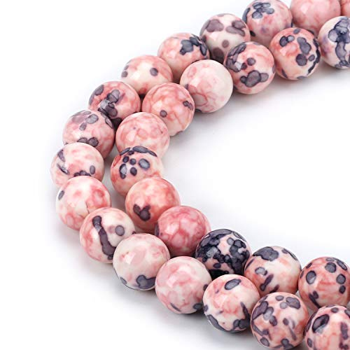 Wholesale 1-Strand Natural Gemstone Smooth Marble Jasper Beads 10mm Gemstone Beads Supplies for Jewelry Making 16''