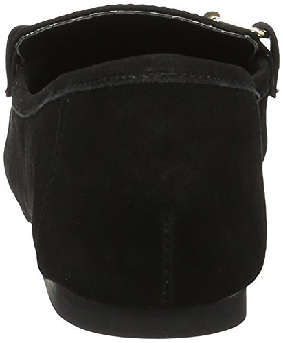Buffalo Damen 216-3547 Nubuck Slipper Schwarz (Black 01)