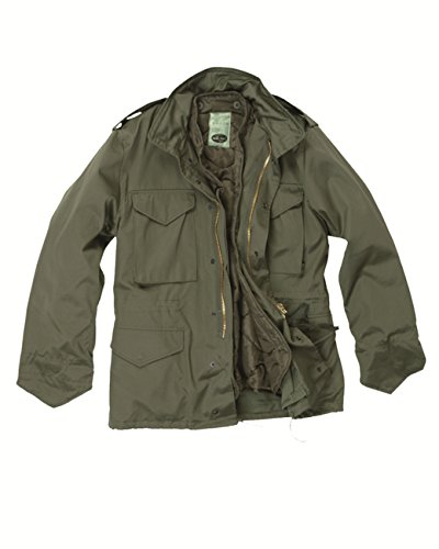 Classic M65 Army Combat Parka Field Jacket Mens Coat Olive SIZE M, CamoOutdoor 10315001-003