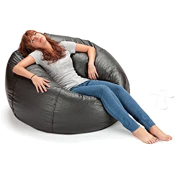 X Rocker 132  Round Extra Large Shiny Bean Bag Black (1 Black  sc 1 st  Amazon.com & Amazon.com: Gold Medal Bean Bags 30011246821TD Large Leather Look ... islam-shia.org