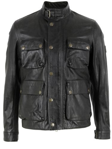 2eace2eb34f Belstaff Brad Black Leather Jacket XL: Amazon.co.uk: Clothing