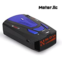 Radar Detector, Voice Alert and Car Speed Alarm System with 360 Degree Detection, City/Highway Mode Radar Detectors for Cars … (Blue-Black)