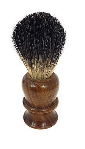 GBS Pure Badger Bristle Shaving Brush - Wood Handle - Compliments Any Shaving Razor For Ultimate and Best Wet shaving Experience. Whip a Lather Using Shave Cream or Shaving Soap with Mug or Bowl