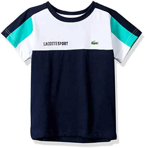 f23eb18d86d23 Lacoste Boys  Sport Short Sleeve Color Block Tennis Tee Shirt