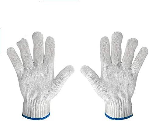 PROCTEX Guantes de punto de hilo blanco | 70% poliéster 30% algodón guantes |