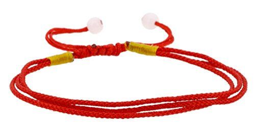 Handmade Layered Red String Kabbalah Bracelet, Good for Wealth and Love