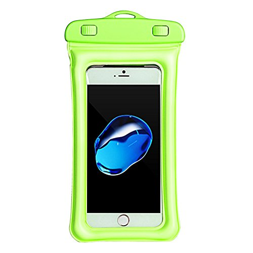 Price comparison product image Connia Floating Waterproof Phone Case Waterproof Pouch Cell Phone Dry Bag For iPhone 6 7 8 X (Green)