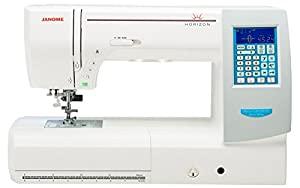 Janome Memory Craft Horizon 8200 QCP Special Edition Computerized Sewing Machine w/ Extension Table + Trolley + Semi-Hard Cover + Cloth Guide + Much More! by Janome