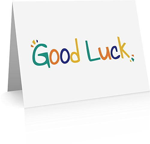 Good Luck Note Cards - 12 Cards and Envelopes - Good Luck Greeting Cards
