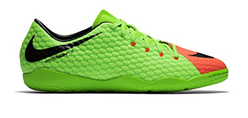 Nike Hypervenom Phelon III IC Indoor Soccer Shoes (6.5) Electric Green/Black