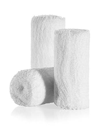 1ecd9e097d7 6-Pack Sterile Gauze Medical Bandage Wrap Rolls - 100% Cushioned Cotton -  Latex