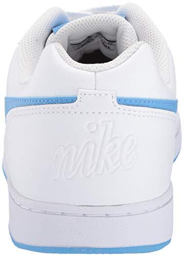 d8edbffb ... Nike Men's Ebernon Low Basketball Shoe, White/University Blue, 10.5  Regular ...