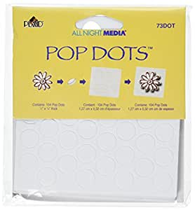 All Night Media Pop Dots, White, 1/2-inch