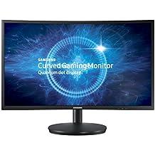 """Monitor Curvo QLED de 27"""" Samsung C27FG70FQL Full HD HDMI/DisplayPort Bivolt - Preto"""