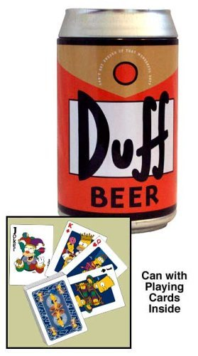 Duff Beer Can and Playing Cards The Simpsons Series 2 - Homer Simpson Duff Beer