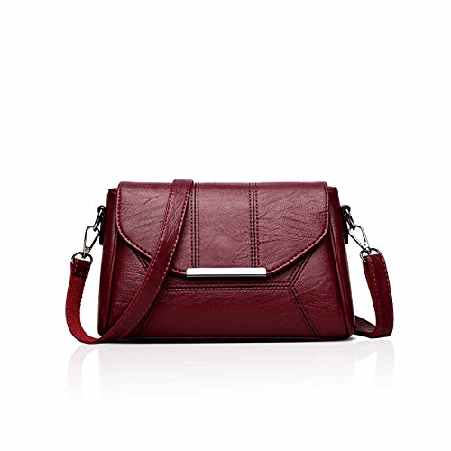 NICOLE Ladies messenger crossbody BIG Bag handbag small C sale Envelope Clutch bag shoulder Red mini amp; Purple DORIS ON Wine ASBXAr1
