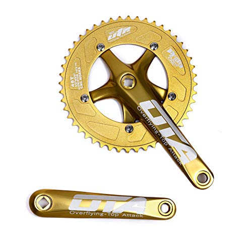 cdc196e3db8 OTA Single Speed Bicycle Crankset Chainwheel 170mm Crank Arms 130 BCD  Chainwheel 48T Fixie Crankset for Single Speed Bike, Fixed Gear Bicycle,  Track Road ...