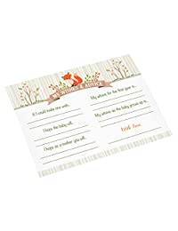 Lillian Rose Woodland Baby Shower Wishes Cards, Neutral, 5.5