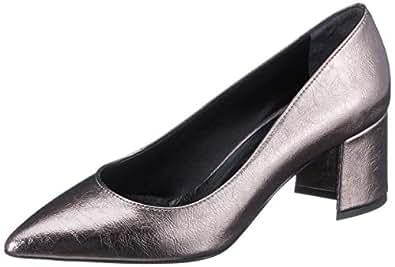 ELLE Kadın Rampur Kapalı Burun Topuklu Ayakkabı, Kurşun, 38 Numara